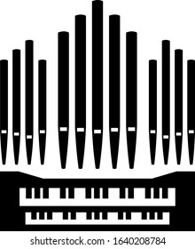Pipe organ music instrument icon keyboard