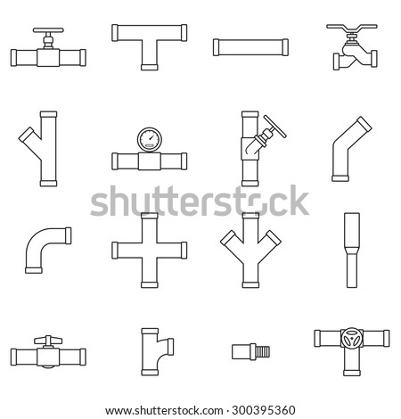 Pipe Valve Icon Set Stock Vector Royalty Free 300395360 Shutterstock