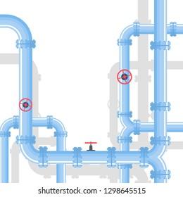 Pipeline background. Vector illustration