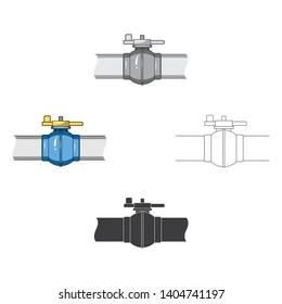 Pipeline shutter.Oil single icon in cartoon,black style vector symbol stock illustration web.