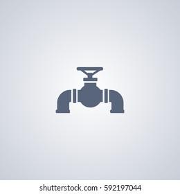 Pipeline vector icon, Tube vector icon