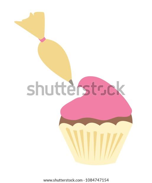 Piping a Cupcake