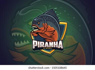 Piranha Esport logo design for your team