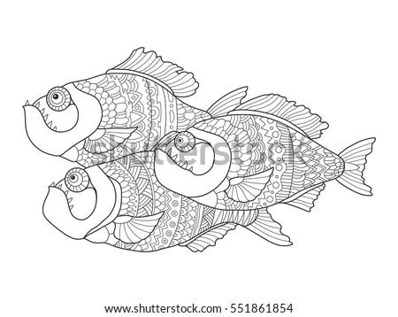 Piranha Fish Stencils | www.genialfoto.com