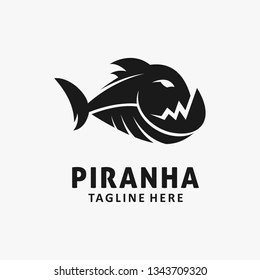 Piranha fish logo design
