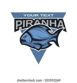 Piranha symbol, logo, emblem.