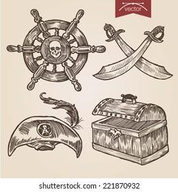 hand drawn anchor ribbon stock vector royalty free 313937459