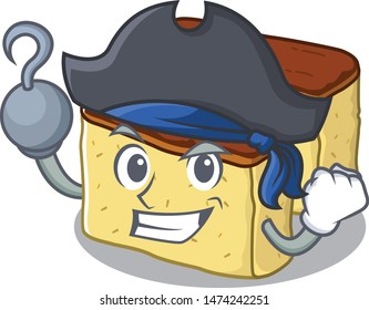 Pirate castella cake isolated in the cartoon