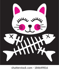 pirate cat flag / t-shirt graphics