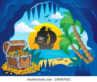 Pirate cove theme image 1 - vector illustration.