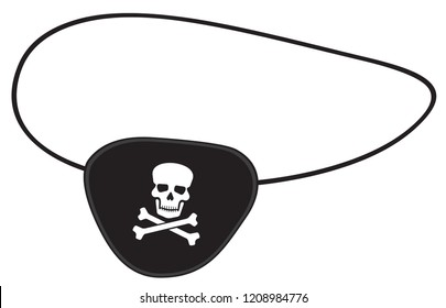 pirate eye patch vector illustration