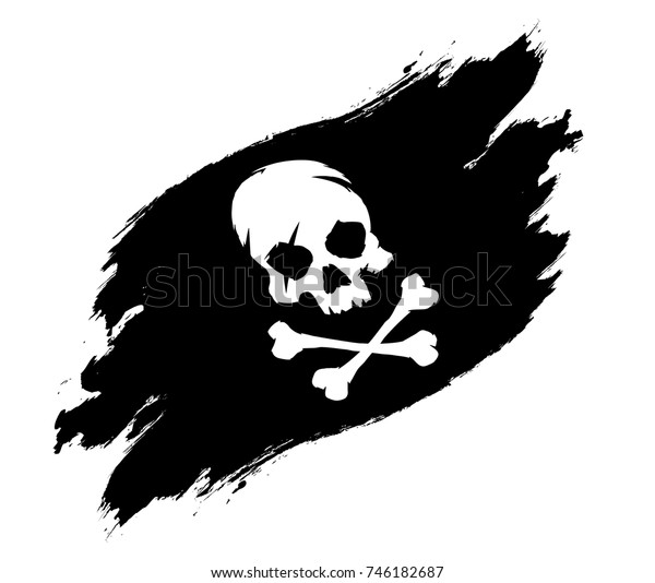 Pirate Flag Grunge Stock Vector (Royalty Free) 746182687
