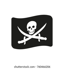Pirate flag icon. Vector.