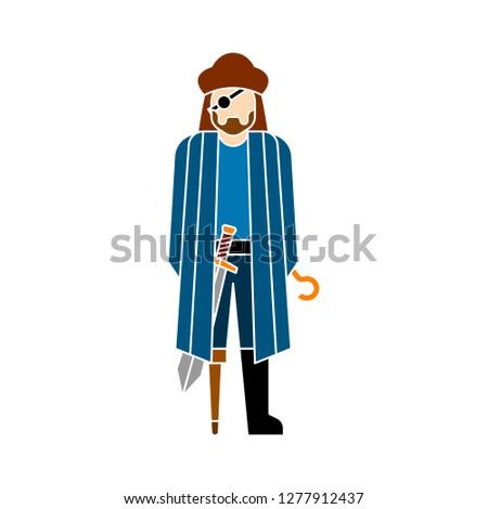 pirate flat icon pirate