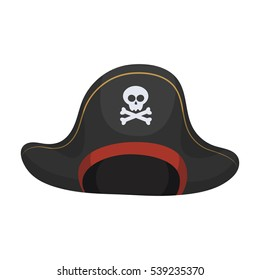 pirate hat images stock photos vectors shutterstock rh shutterstock com Funny Pirate Cartoons Cartoon Pirate Parrot