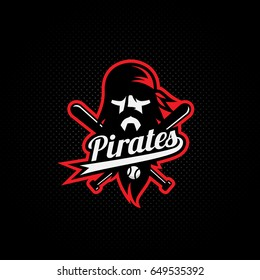 Pirate mascot for a baseball team. Vector illustration.