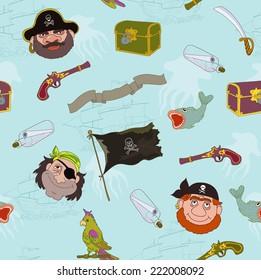 Pirate and sea