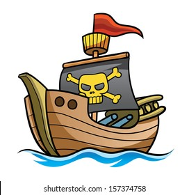 Pirate Ship Clipart For Kids