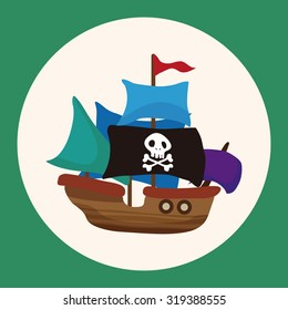 pirate ship theme elements