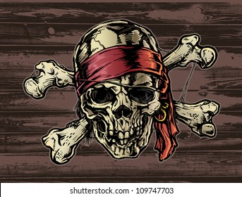 Pirate skull with Bandana