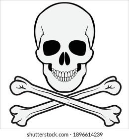 Pirate Skull with crossbones underneath.