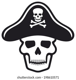 pirate skull with hat