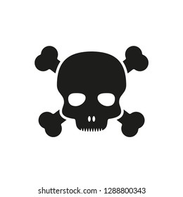 Pirate skull icon vector logo template