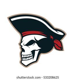 Pirate skull mascot
