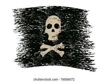 Pirate symbol on an abstract background