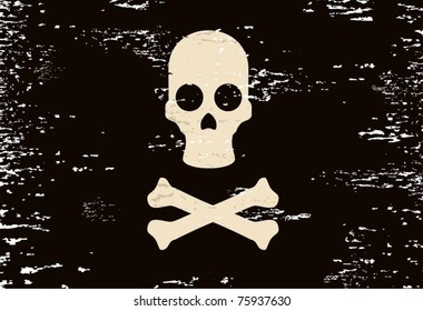 Pirate symbol on a dark background