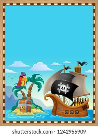 Pirate topic parchment 5 - eps10 vector illustration.
