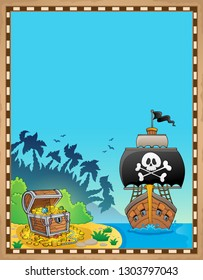 Pirate topic parchment 9 - eps10 vector illustration.