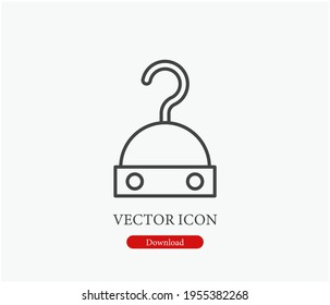 Pirate vector icon.  Editable stroke. Linear style sign for use on web design and mobile apps, logo. Symbol illustration. Pixel vector graphics - Vector