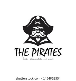 The Pirates logo, head of the piracy with blak color