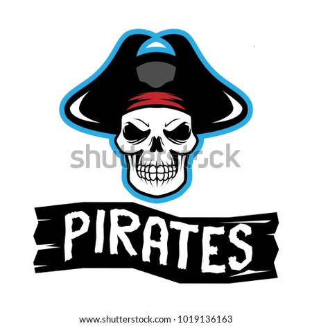 pirates logo skull template stock vector royalty free 1019136163