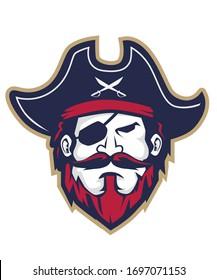 Pirates mascot cartoon in vector