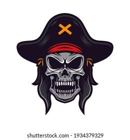 Pirates mascot logo and illustration