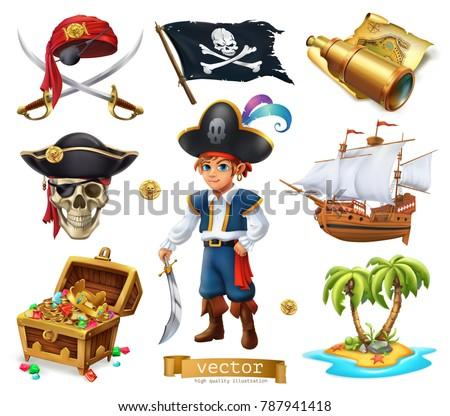 Pirates set Boy treasure