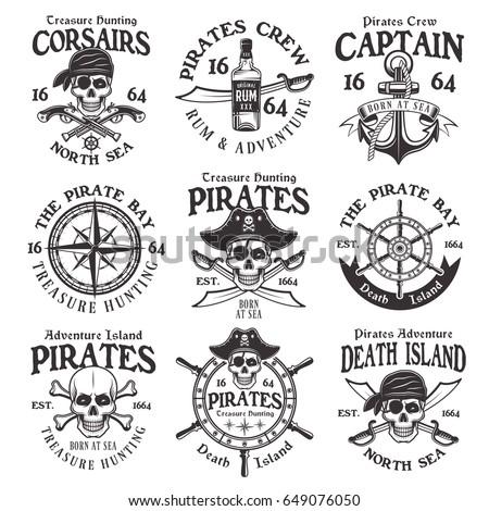Pirates set of vector