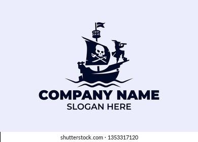 Pirates' ship vector logo