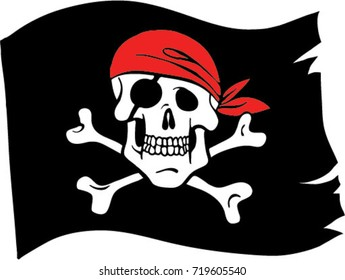 graphic relating to Pirate Flag Printable referred to as Pirate Flag Pics, Inventory Illustrations or photos Vectors Shutterstock