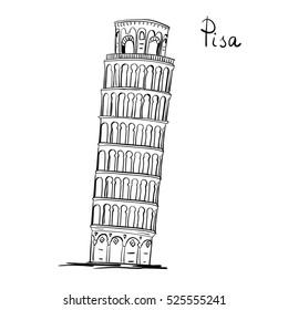 Torre Di Pisa Vettoriale Hd Stock Images Shutterstock