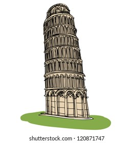 Pisa tower : sketchbook vector