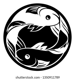 Pisces fish horoscope astrology zodiac sign icon