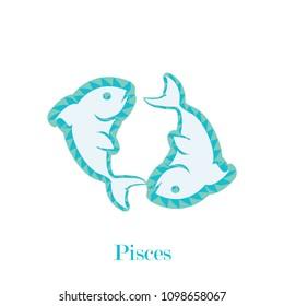 Pisces zodiac sign geometric