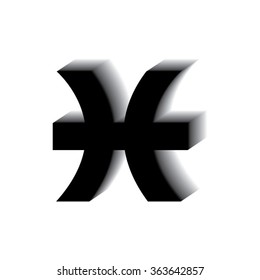 Pisces Zodiac Sign Single Icon