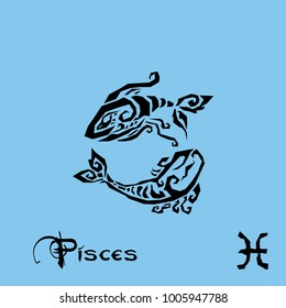 Pisces Zodiac Sign Tattoo art