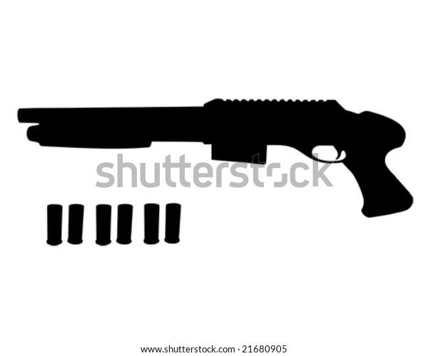 Pistol Grip Shotgun Shells Stock Vector (Royalty Free) 21680905