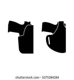 Pistol in gun holster