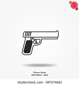 Pistol Gun Icon Vector Illustration